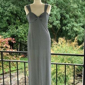 Max studio blue and white maxi dress